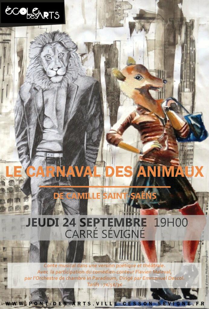 In Paradisum, l'orchestre joue le carnaval des animaux dont voici l'affiche
